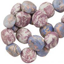 Keramikperlen (16 x 8 mm) Lavender (13 Stück)