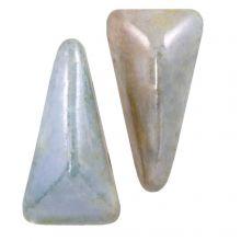 Vexolo® DQ Glasperlen (5 x 8 mm) Alabaster Blue (20 Stück)