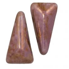 Vexolo® DQ Glasperlen (5 x 8 mm) Alabaster Lila (20 Stück)
