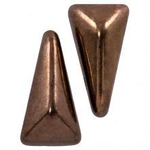 Vexolo® DQ Glasperlen (5 x 8 mm) Jet Gold (20 Stück)