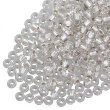 DQ Rocailles (4 mm) Centered Silver (25 Gramm / 350 Stück)