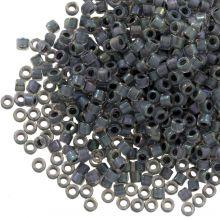 Miyuki Delica (11/0 mm) Lined Dark Grey AB (10 Gramm)