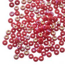 DQ Rocailles (4 mm) Rose Red AB (25 Gramm / 350 Stück)