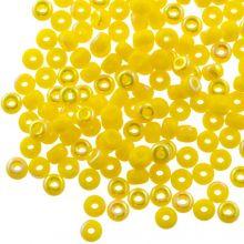 DQ Rocailles (4 mm) Bright Yellow AB (25 Gramm / 350 Stück)