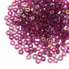 DQ Rocailles (3 mm) Mulberry Purple AB (25 Gramm / 600 Stück)