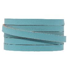 DQ Flaches Leder (5 x 2 mm) Sapphire Metallic (1 Meter)