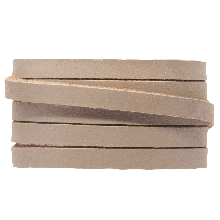 DQ Flaches Leder (5 x 2 mm) Taupe (1 Meter)