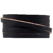 DQ Flaches Leder (5 x 2 mm) Black (1 Meter)