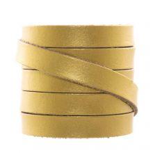 DQ Flaches Leder  (10 x 2 mm) Metallic Gold (1 Meter)