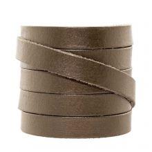 DQ Flaches Leder  (10 x 2 mm) Metallic Mocha (1 Meter)
