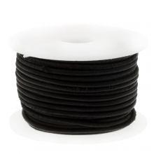 DQ Leder Vintage (1 mm) Black (10 Meter)