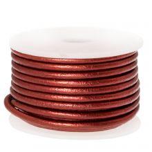 DQ Leder (2 mm) Metallic Red (5 Meter)