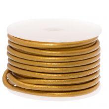 DQ Leder (2 mm) Metallic Gold (5 Meter)