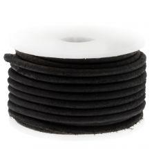 DQ Leder (2 mm) Vintage Black (5 Meter)