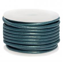 DQ Leder (3 mm) Metallic Faded Demin (5 Meter)