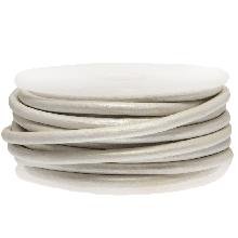 DQ Leder Metallic (3 mm) White (5 Meter)