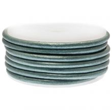 DQ Leder (3 mm) Metallic Blue Green (5 Meter)