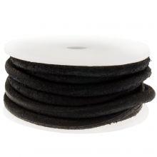 DQ Leder (4 mm) Vintage Black (2.5 Meter)