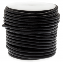 DQ Leder Regular (4 mm) Black (20 Meter)