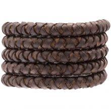DQ Geflochtenes Leder (8 mm) Chestnut (1 Meter)