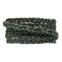 DQ Flach Geflochtenes Leder Regular (6 x 3.5 mm) Safari Green (1 Meter)