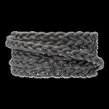 DQ Flach Geflochtenes Leder Regular (6 x 3.5 mm) Warm Grey (1 Meter)