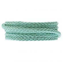 DQ Geflochtenes Leder Regular (4 mm) Mint Green (1 Meter)