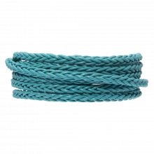 DQ Geflochtenes Leder Regular (4 mm) Sky Blue (1 Meter)