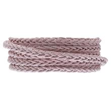 DQ Geflochtenes Leder Regular (4 mm) Soft Pink (1 Meter)