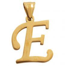 Edelstahl Buchstabenanhänger E (32 mm) Gold (1 Stück)