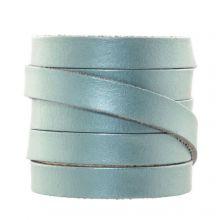DQ Flaches Leder  (10 x 2 mm) Metallic Powder Blue (1 Meter)
