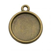 Fassung 1 Öse (12 mm) Bronze (10 Stück)