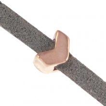 Schieber (Innenmaß 3 x 2 mm) Rosegold (10 Stück)