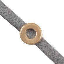 Schieber (Innenmaß 3 x 2 mm) Gold (10 Stück)