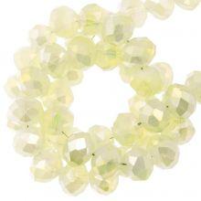 Facettperlen Rondell (3 x 4 mm) Pale Yellow (130 Stück)