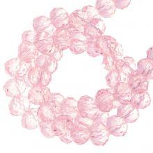 Facettperlen Rondell (4 x 6 mm) Bright Pink (90 Stück)