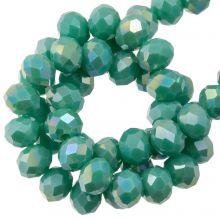 Facettperlen Rondell (2 x 3 mm) Aqua Green (130 Stück)