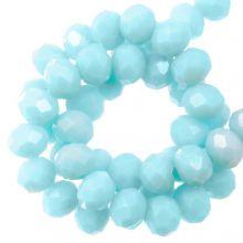 Facettperlen Rondell (4 x 6 mm) Baby Blue (90 Stück)