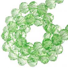 Facettperlen Rondell (3 x 4 mm) Bright Green (130 Stück)