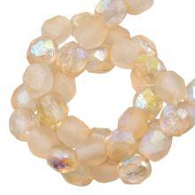 DQ Feuerpolierte Perlen (4 mm) Yellow Rainbow (50 Stück)