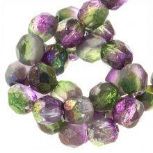DQ Feuerpolierte Perlen (Magic Orchid) 6 mm (25 Stück)