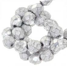 DQ Feuerpolierte Perlen (Silver) 6 mm (25 Stück)