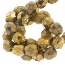 DQ Feuerpolierte Perlen (Amber Gold) 6 mm (25 Stück)