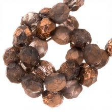DQ Feuerpolierte Perlen (Capri Gold Dark) 6 mm (25 Stück)