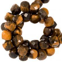 Tigerauge Perlen (5 x 5 mm) 70 Stück