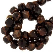 Rote Tigerauge Perlen (5 x 5 mm) 70 Stück