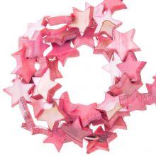 Muschelperlen Stern (11 mm) Old Pink (38 Stück)