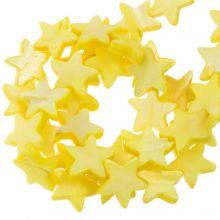 Muschelperlen Stern (11 mm) Yellow (38 Stück)