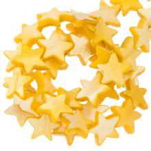 Muschelperlen Stern (11 mm) Orange (38 Stück)