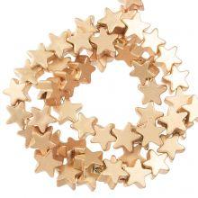 Hämatit Perlen Stern  (4 x 2 mm) Light Gold (115 Stück)